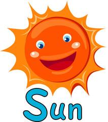 alphabet  S for sun