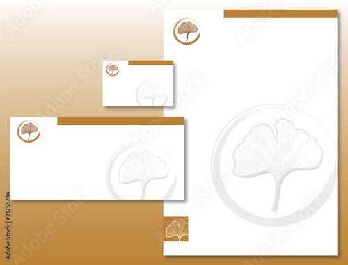 Charte Graphique Feuille Ginkgo