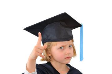 Cute young scholar