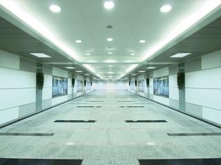 Underground passage to subway station