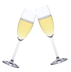 Anstossen mit Champagner