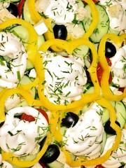 Decorated salad