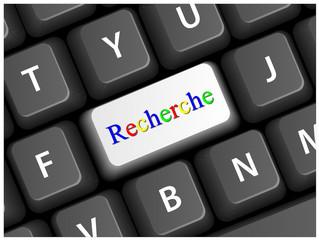 Touche RECHERCHE sur Clavier (Web Internet Bouton Vecteur)
