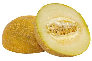 Cut melon in half