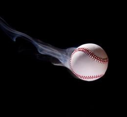 Thrown baseball