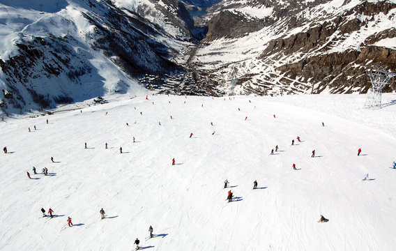 Ski Slope Aerial