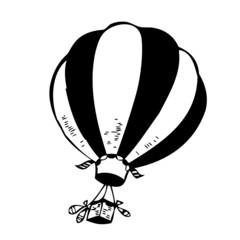 montgolfière, illustration