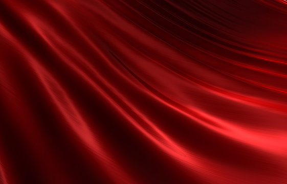 Rippled red silk background