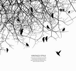 Acrylic Prints Birds on tree tree