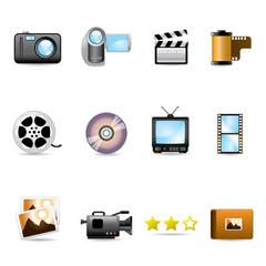 icon set photo video