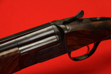 12 caliber sportive and hunting double-barrelled gun