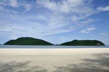 Laem Sala beach with two mountains, Thailand