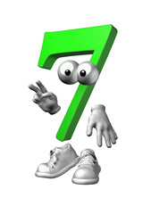 zahlenmännchen grün 7