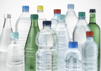 Mineralwasserflaschen, Close Up