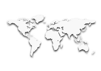 Poster Carte du monde worldmap