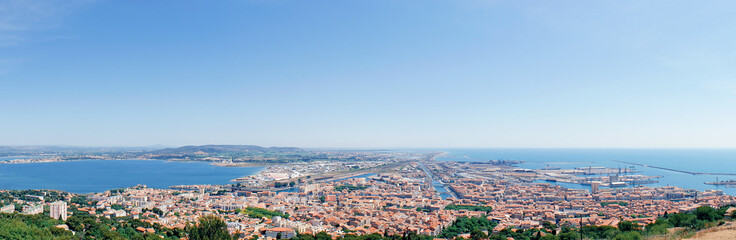 Panorama of Sete seen from Mont Saint Clair