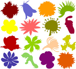 Set of flower icons B