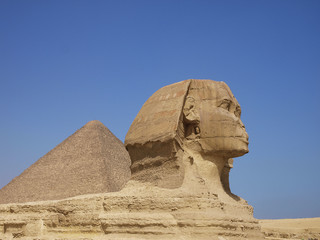 Wall Murals Egypt sphinx from giza and Pyramid