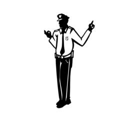 policier, illustration