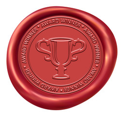 Trophy Sign Red Wax Seal
