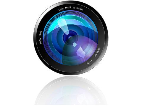 Camera Lens - Blue