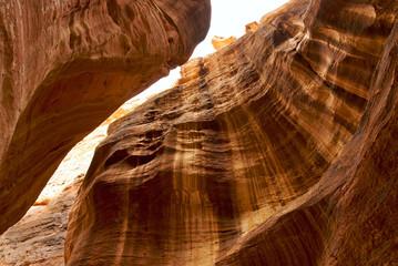 Ancient Al Siq canyon, Petra, Jordan