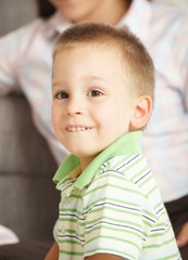 Portrait of little boy smiling