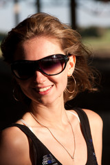 Young woman in sunglasses