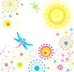 Abstract summer card