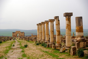 Decumanus Maximus, Volubilis, Morocco