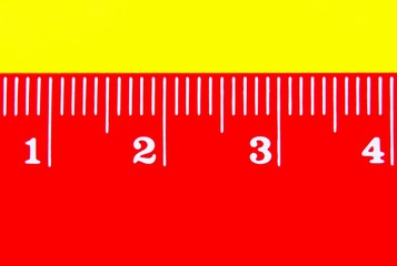 detail of red ruler