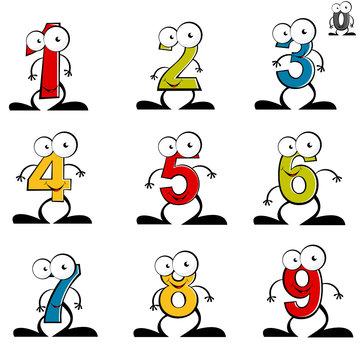 zahl nummer cartoon lustig mathematik