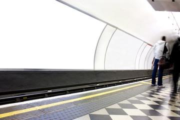 Fototapeta Advertising poster site in london underground obraz
