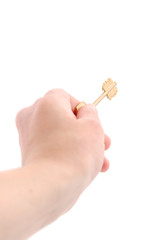 Key in a man's hand