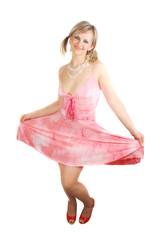 Woman in summer dress.