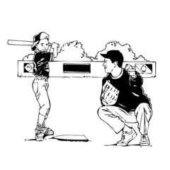 baseball, illustration