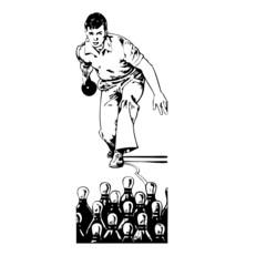 bowling, illustration