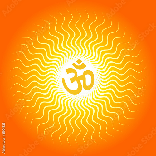 quotspiritual om on sun burst backgroundquot stock image and