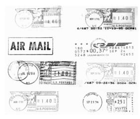 USA, black postmarks