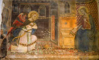 Florence - fresco of Annunciation