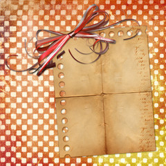 Grange sheet for design with red bow