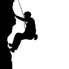Men climb