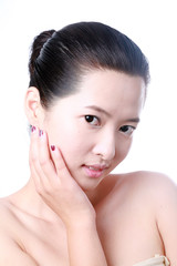 Close-up portrait of sexy asian young woman