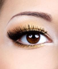 Fashion female eye makeup