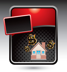 home investment red stylized template