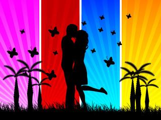 lovers vector illustration