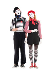 loving couple of mimes