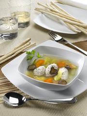 soupe de poulet gratiné