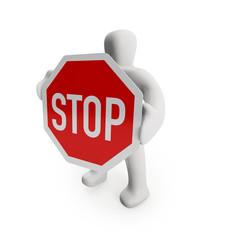 Figur Stopp (mit Freistellungspfad/clipping path)