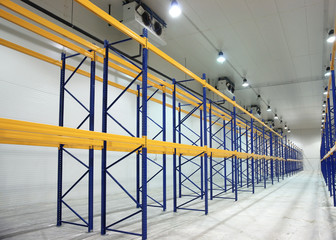 Large newly built warehouse